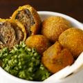 料理メニュー写真Olive Fritte / オリーブの肉詰めフリット