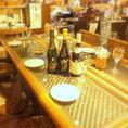 6名掛けのハイテーブルは女子会やご宴会などに最適なお席になります。