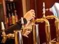 グループに大人気!!750ミリのビッグボトルビールでまずは乾杯!!