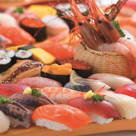 女性のお客様1人でも気軽にご利用いただける明るく開放的な回転寿司です。