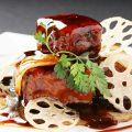 料理メニュー写真特級黒酢の酢豚