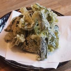 信州産野沢菜の天ぷら