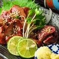 料理メニュー写真赤鶏レバーのたたき刺