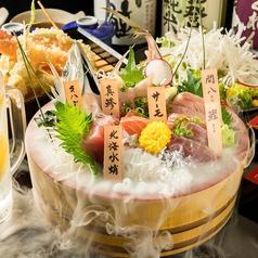 鮮魚の桶盛りと創作天ぷら 天しゃり 今池本店の特集写真