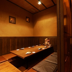 6名様用個室は各種宴会や打ち上げにピッタリ!個室は人数や用途に合わせてご用意いたします席のみ予約も大歓迎♪