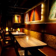 ◆店内は全席個室空間♪忘年会や歓送迎間にも♪