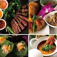 タイの伝統的なメニューを含むごちそう晩餐会コース!全40種類のワインやカクテルを2時間飲み放題付でご利用いただけます!