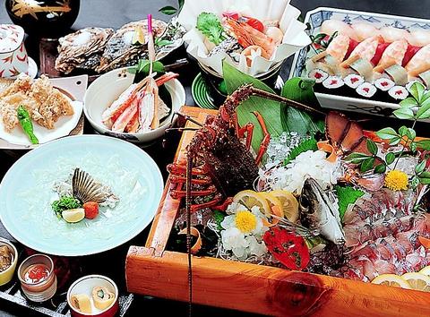 旬の食材が満載!生簀から取り上げる新鮮な魚貝が名物のお店