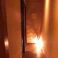 暖かい光を放つ間接照明