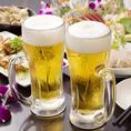 生ビールもちろんOK!全100種のドリンクが飲み放題で最後まで飲み飽きしません♪
