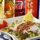 料理メニュー写真● 地鶏の冷燻ハム~手作り・スタミナ大蒜香味ソース~