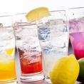 種類豊富な【酎ハイ/サワー】はなんと40種以上の品揃え♪女性に大人気の果実酒・梅酒も種類豊富にご用意しております!!