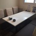 6名様の個室テーブル席です。