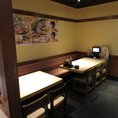 テーブルのお席は、レイアウト変更可能です!人数・お席などのご相談も承りますので、店舗までお問い合わせください!