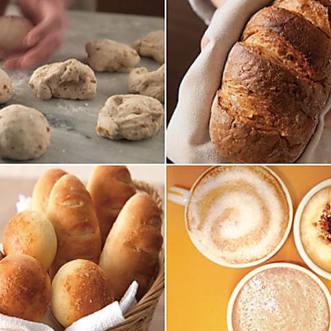 パン職人が毎日真心こめて焼き上げた手作りパンの数々をお楽しみください。