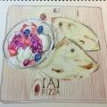 料理メニュー写真ミックスベリーとバニラアイスもちもちパン