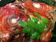料理メニュー写真お刺身、煮魚、焼き魚各種。