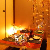 [御茶ノ水駅前]桜の装飾が◎和空間