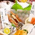 【鯛の姿造り+5種盛り合わせ(4名様~)】コース+500円で追加オプション…見た目も豪華な姿造り!新鮮な魚はやっぱりお刺身で頂くのが一番♪