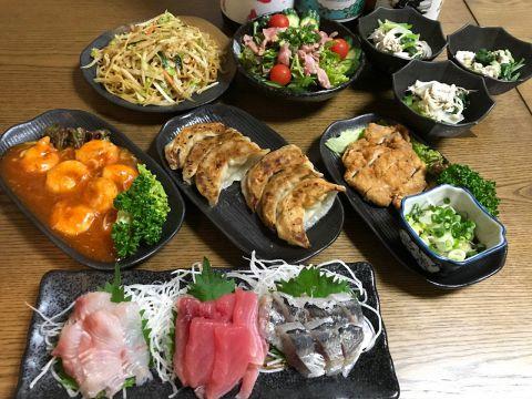 【オーナーお勧め!】お料理7品&2時間飲み放題付(全てのドリンク対象約50種)コース 4200円