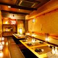 【個室】12名様~25名様までご利用可能です!温かみのある個室の広めのお席。美味しいお料理と美味しいお酒を楽しみながら素敵なお時間をお過ごしください。