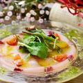 料理メニュー写真季節の魚のカルパッチョ