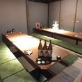 掘りごたつの完全個室。8名様~15名様用。