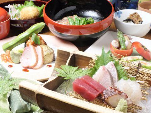 おまかせ料理 10品 6000円(税抜)