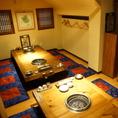 【個室掘りごたつ】最大30名 韓国格子で仕切られた個室。 接待やご宴会の他、プライベートでのご利用にも最適です♪
