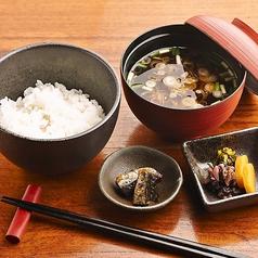 料理メニュー写真■白飯と赤出汁セット