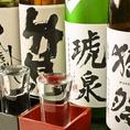人気の獺祭など…様々な地酒は550円~