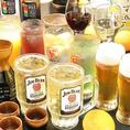 単品飲み放題メニューもあります。ビール、ハイボール、焼酎、日本酒など豊富な種類でご提供いたします。特に焼酎は九州各地の銘酒を取り揃えておりますのでぜひ味わっていただきたい一品。アルコールが苦手な方に、ノンアルコールドリンクも豊富にご用意しています。