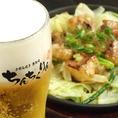 鉄板焼き、広島名物料理、お好み焼きで人気のちんちくりん!