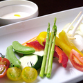 料理メニュー写真有機野菜のバーニャカウダ