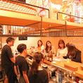 1階はカウンターでオープンキッチン。12名様まで着席可◎会社帰り、友人同士、デート、女子会、おひとりでも楽しめます。