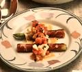 料理メニュー写真柾風コースの一品「アスパラ 生ハム」