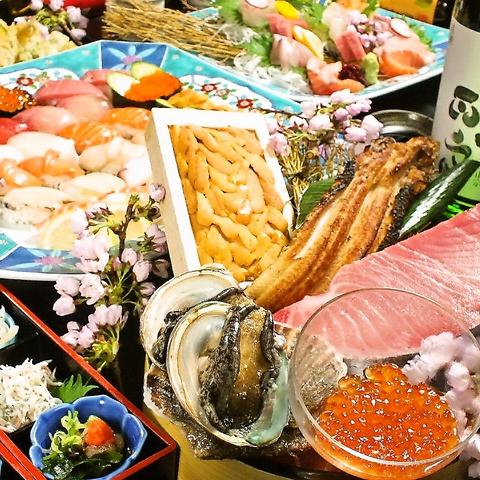 魚料理の名店[魚匠 隆明]が手掛ける店!!トロもウニもOKの寿司・天ぷら食べ放題3980円