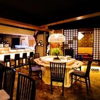 本格的な和食を楽しむことができる空間です。