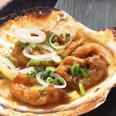 料理メニュー写真名物 蟹味噌甲羅七輪焼き