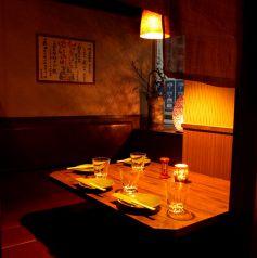 4名個室。ご予約はお早めに
