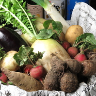 こだわりの有機野菜を仕入れております◎
