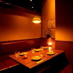 5名様個室。ご予約はお早めに