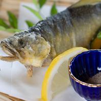 新鮮な鮎を塩焼きで・・・