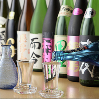 日本全国各地から取り寄せた日本酒が並びます。