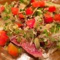 料理メニュー写真きまぐれお肉カルパッチョ