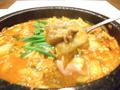 料理メニュー写真地鶏キムチ石鍋/タッコギ(地鶏)石鍋