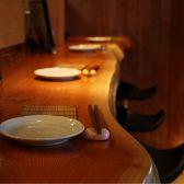 和食に似合うカウンター。椅子も座り心地◎お一人様も安心