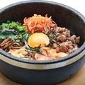料理メニュー写真石焼ビビンバ(ワカメスープ付き)
