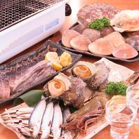 目の前で新鮮な魚介類を焼いて食べれる!