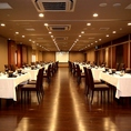 3Fでの大人数でご利用可能な宴会席でのご案内になります。最大300名様まで対応可能です。